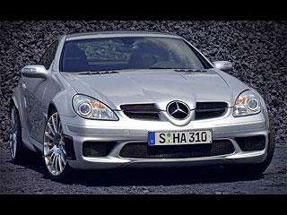 Black edition by amg mercedes slk 55 car tuning for Mercedes benz slk 55 amg special edition
