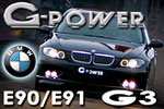 Tuning for BMW 3 E90/91 by G-Power!
