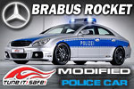 Mercedes Brabus Rocket Police Car - Tune It Safe!