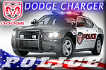 A charged officer in a Dodge Charger Police Car conversion!!!