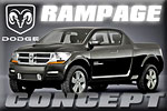 Abstraction of on-coming pick-ups at arm's length –Dodge Rampage Concept!!!
