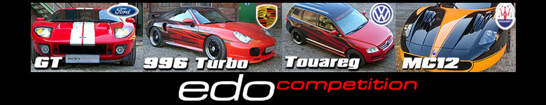 VW Touareg, Porsche 996 Turbo, Ford GT and Maserati MC12 XX by Edo Competition !